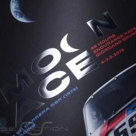 Porsche Poster 911 2.8 Carrera RSR n° 59 Brumos 29th Moon Race 2078 Limitierte Auflage