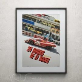 Porsche Poster 917 KH n° 23 Salzburg Sieger Le Mans 1970 Limitierte Auflage