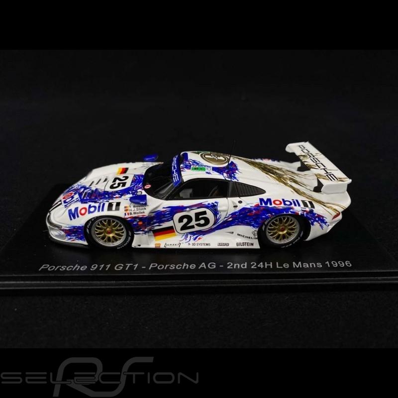Porsche 911 type 996 GT1 Porsche AG n° 25 Le Mans 1996 1/43 Spark S5602