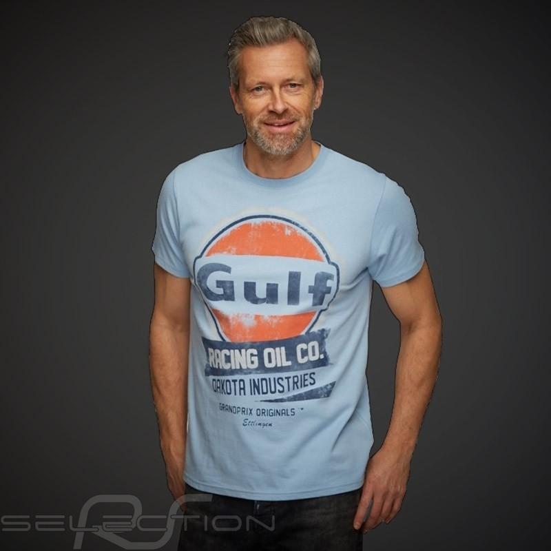 T-Shirt Gulf Racing Oil Company Gulfblau - Herren