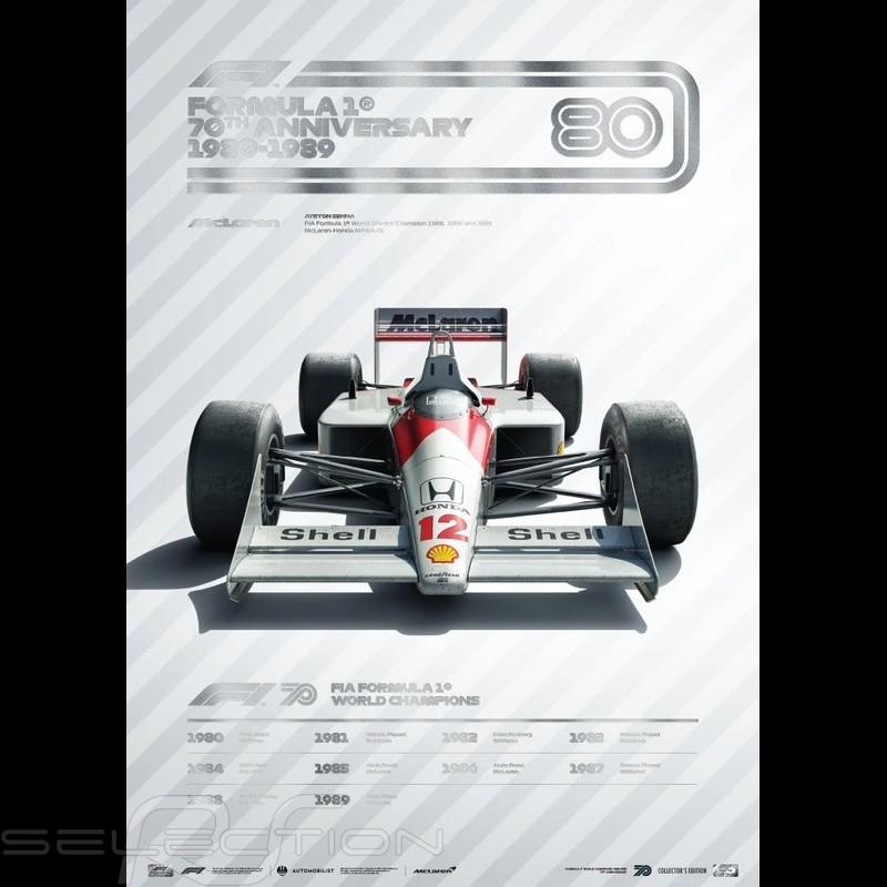McLaren Poster F1 70. Geburtstag 1980 - 1989 Limitierte Auflage