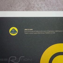Lotus Poster F1 World champions 1960 - 1969 Limitierte Auflage