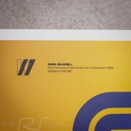 Williams Poster F1 World champions 1990 - 1999 Limitierte Auflage