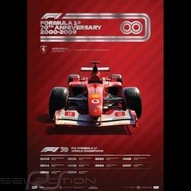Set 8 F1 Posters 70. Geburtstag komplette Sammlung Limitierte Auflage