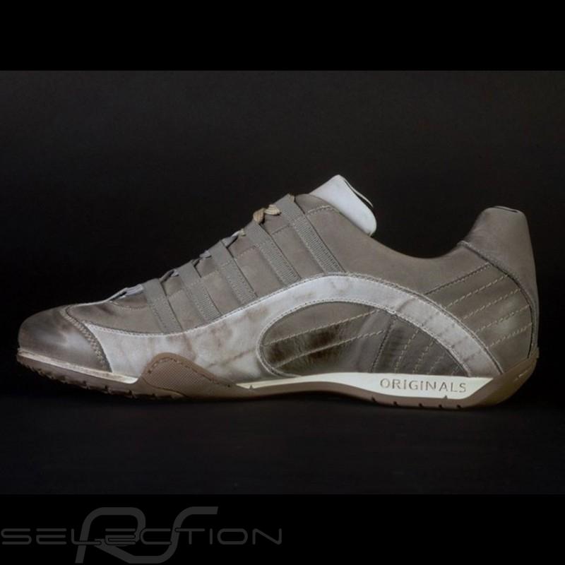 Sneaker / Basket Schuhe Style Rennfahrer Beige V2 - Herren
