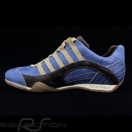 Sneaker / Basket Schuhe Style Rennfahrer Pazifik blau / braun V2 - Herren