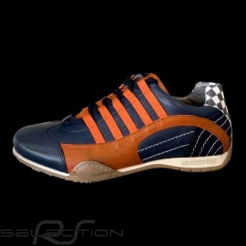 Sneaker / Basket Schuhe Style Rennfahrer Marineblau / orange - Herren