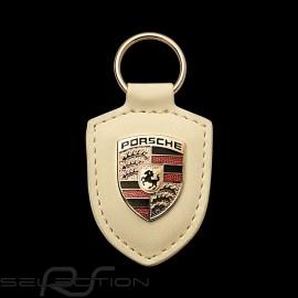 Schlüsselanhänger Porsche Wappen creme weiß Porsche  WAP0500960E