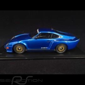 Porsche 911 Biturbo type 930 3.3 Almeras 1993 blau metallic 1/18 KESS KE18005A