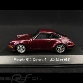 """Porsche 911 type 964 Carrera 4 """" 30 Years Porsche 911 """" 1993 viola 1/43 Spark MAP02051020"""