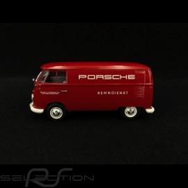VW Bulli T1 Transporter Porsche Renndienst 1963 rot 1/32 Schuco 450785300