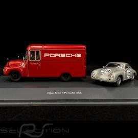Duo Opel Blitz 1.75t Porsche Renndienst & Porsche 356 n° 110 1/43 Schuco 450309200