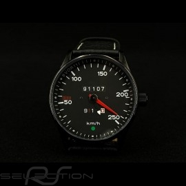 Porsche 911 250 km/h Tachometer Uhr schwarz Gehause / schwarz Wahl / weiße Zahlen