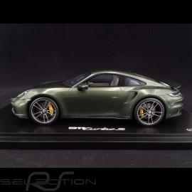 Porsche 911 Turbo S type 992 Oak grün 2020 1/18 Spark WAP02117C0L002