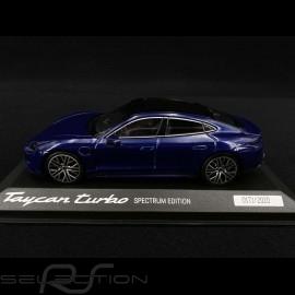 Porsche Taycan Turbo Spectrum Edition 2020 Enzian blau 1/43 Minichamps WAP0200880M003