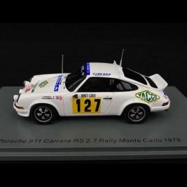 Porsche 911 Carrera RS 2.7 n° 127 Rallye Monte Carlo 1978 1/43 Spark S6641