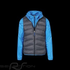 Porsche Jacke Ärmellose / windbreaker 2 in 1 GT3 Collection shark blue / Kohlengrau WAP811MGT3 - Herren