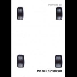 Porsche Broschüre Der neue Vierradantrieb 911 Carrera 4 09/1994 in Deutsch WVK140710