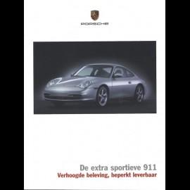 Porsche Broschüre De extra sportieve 911 Verhoogde beleving, beperkt leverbaar 2003 in Niederländisch Série limitée