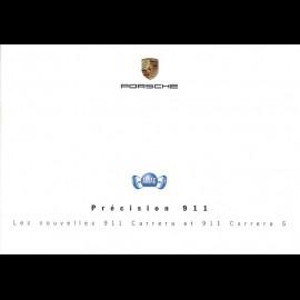 Porsche Broschüre Précision 911. Les nouvelles 911 type 997 Carrera et 911 type 997 Carrera S 06/2004 in Französisch
