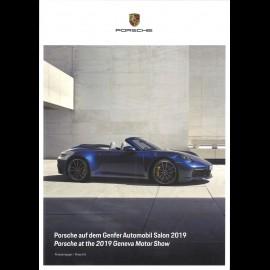 Porsche Broschüre Porsche auf dem Genfer Automobil Salon 2019 / Porsche at the 2019 Geneva Motor Show 03/2019 Deutsch/Englisch