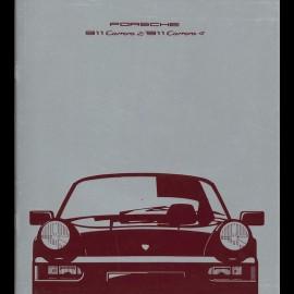 Porsche Broschüre 911 Carrera 2 / 911 Carrera 4 09/1989 in Französisch WVK103330