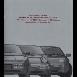 Porsche Broschüre Bereich 944 / 911 / 928 08/1990 in Französisch WVK127330
