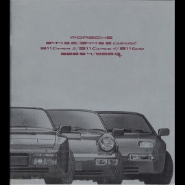 Porsche Broschüre Bereich 944 / 911 / 928 08/1990 in Deutsch WVK127310