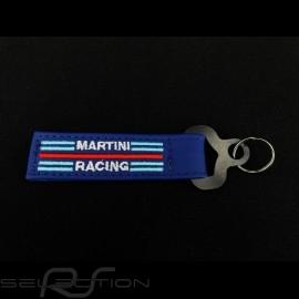 Schlüsselanhänger Sparco Martini Racing Leder blau 099070MRAZ