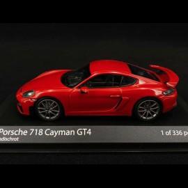 Porsche 718 Cayman GT4 type 982 2020 Indischrot 1/43 Minichamps 410067600