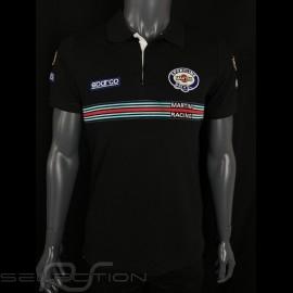 Sparco Replica Martini Racing Polo Shirt Schwarz -  01275MRNR