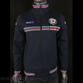 Martini Racing  Jacke Fullzip Sweatshirt Marineblau Sparco 01278MR
