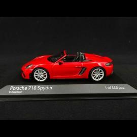 Porsche 718 Boxster Spyder type 982 2020 inischrot 1/43 Minichamps 410067702