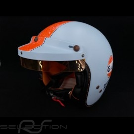 Gulf Helm Vintage Racing Oil Company blau / orange