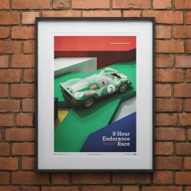Ferrari Poster 412P Grüne Kyalami 9 Ühr 1967 Limitierte Auflage