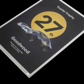 Ferrari Poster 250 GTO Dunkelblau Goodwood 1962 Limitierte Auflage