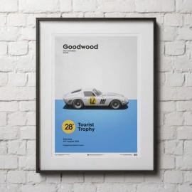 Ferrari Poster 250 GTO Rot Goodwood 1963 Limitierte Auflage