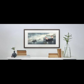 """Luxusrahmenkunstwerk """"Fords and the Furious"""" 50 x 24 cm"""