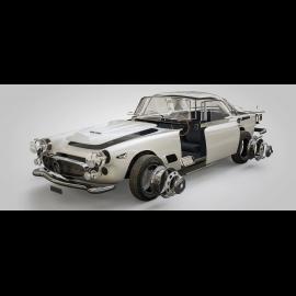 Luxusrahmenkunstwerk Maserati 3500GT 1957 50 x 24 cm