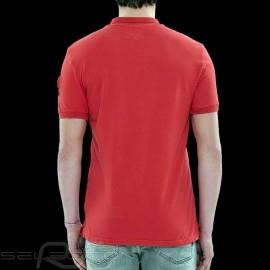 Steve McQueen Poloshirt US Star & Stripes Rot - Herren