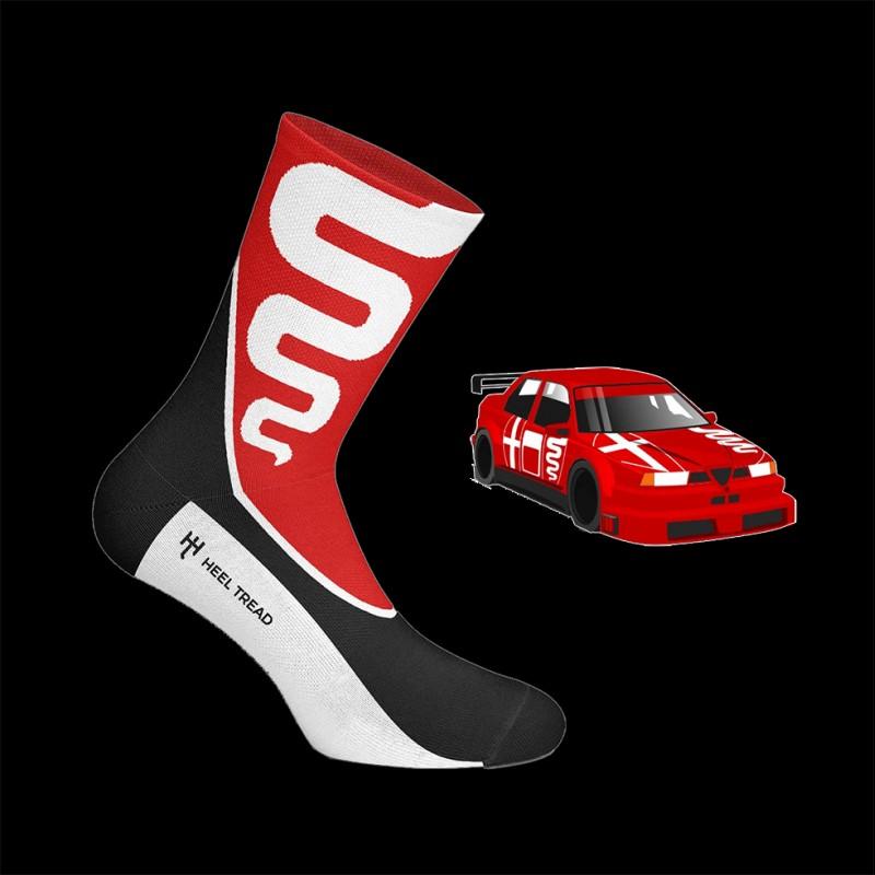 Unisex Alfa Romeo 155 Socken Rot / Schwarz / Weiß - Unisex - Größe 41/46