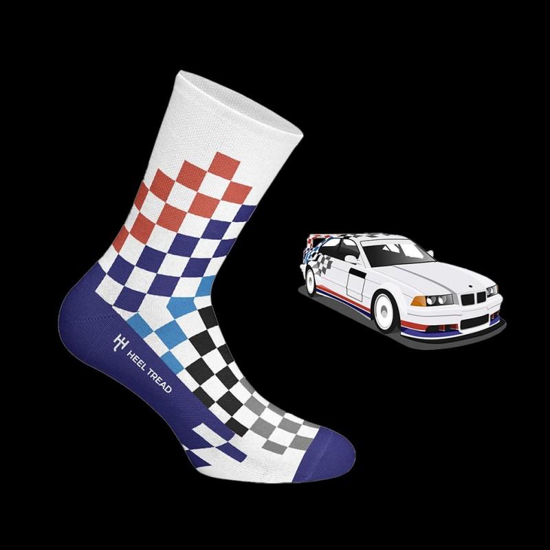 BMW M3 FINA Socken mehrfarbiges Schachbrett - Unisex - Größe 41/46