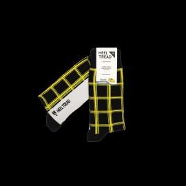 Porsche 911 Carrera RS 3.2 Ruf CTR Yellowbird Socken Schwarz / Grün / Gelb - Unisex - Größe 41/46