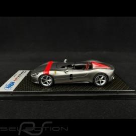 Ferrari Monza SP1 2018 Titanium Silbergrau / rot 1/43 BBR CAR60