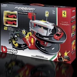 Garage und Parkplatz Ferrari mit 2 Autos 1/43 Bburago 31204