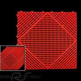 Garagenplatten Farbe Rot RAL3020 - 15 Jahre Garantie - Satz mit 6 Platten von 40 x 40 cm