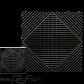 Garage floor tiles Black RAL9004 Quality-Price - 15 years warranty - Set of 6 tiles of 40 x 40 cm