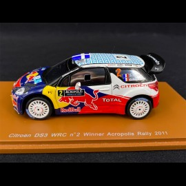 Citroën DS3 WRC n° 2 Winner Acropolis Rally 2011 1/43 Spark S3310