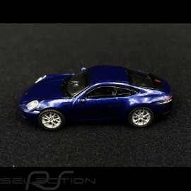 Porsche 911 Turbo S type 992 gentian blue 1/87 Schuco 452653200