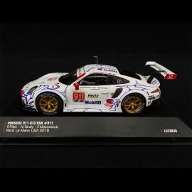 Porsche 911 GT3 RSR Type 991 n° 911 Winner Petit Le Mans 2018 1/43 IXO MODELS LE43048